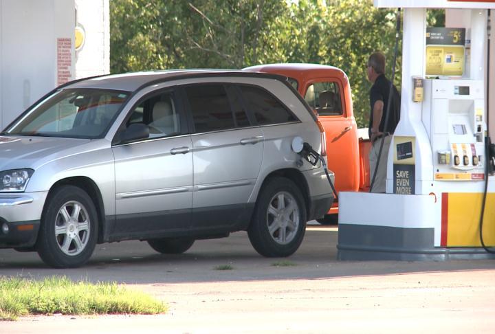 Car at the gas pump