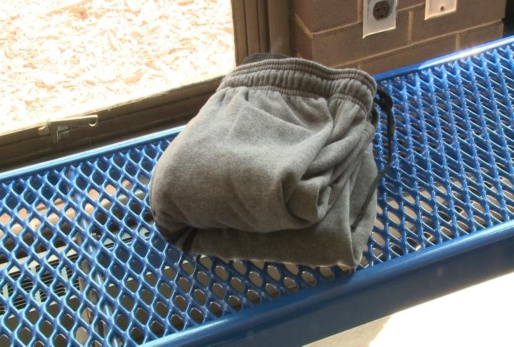 Sweatpants that were donated to the YMCA.