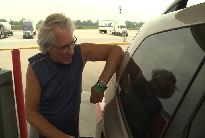 Scott Tinti said the gas was cheaper in Missouri.