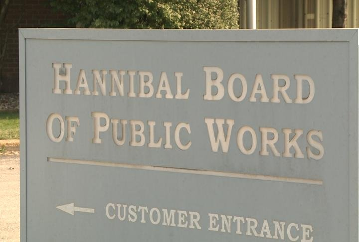 Sign for Hannibal Board of Public Works.