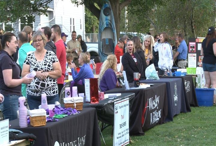 The block party took place Tuesday night.