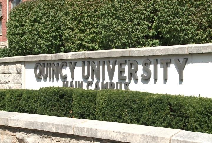 Quincy University's main campus at 18th and Oak in Quincy.