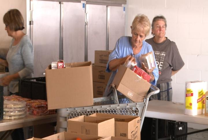 The food pantry is open on the first Wednesday of the month.