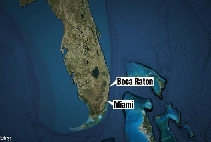 Mosley lives in Boca Raton which is about 50 miles north of Miami and 5 miles from the ocean.
