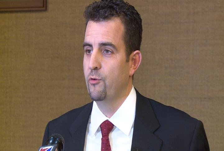 Former Midwest Academy owner Ben Trane spoke at a press conference in February 2016 after authorities raided the campus following sex abuse allegations.