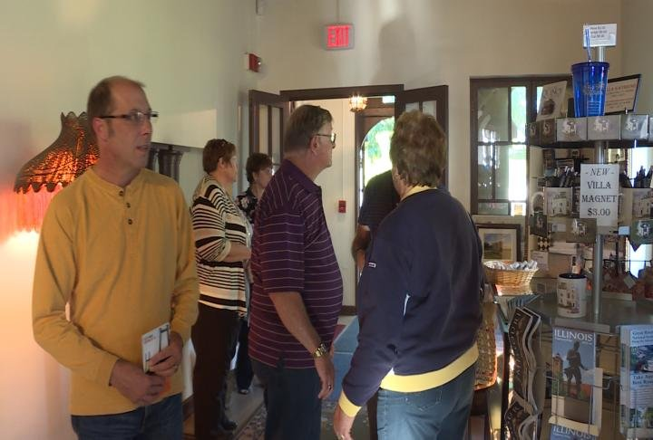 Residents fill the Tourist Information Center.