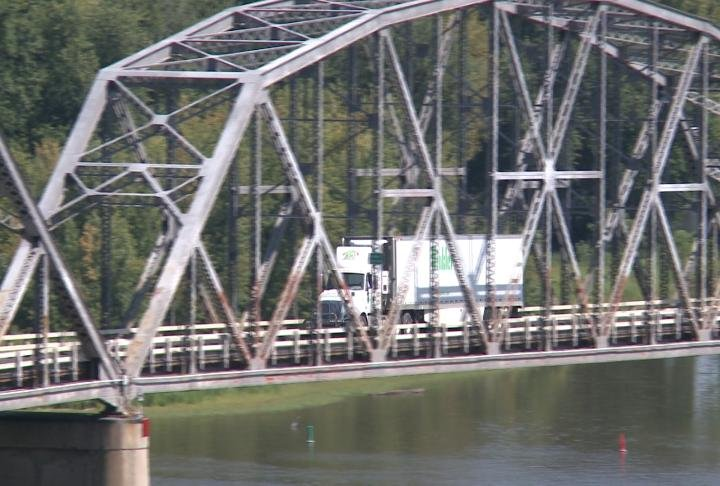 Allen said trucks on the bridge are intimidating.