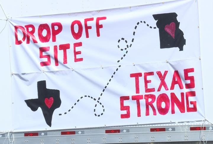 The banner was made by Hannibal High School Art Department.