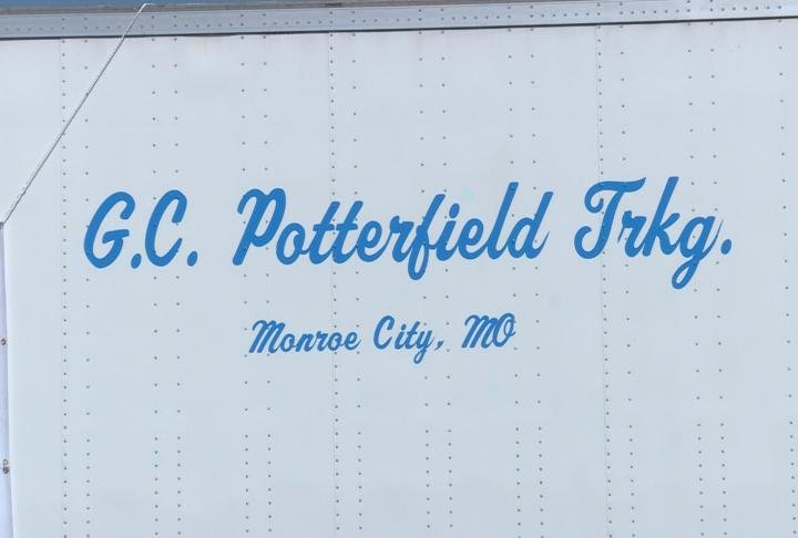 Potterfield Trucking is providing the truck trailer for donations.