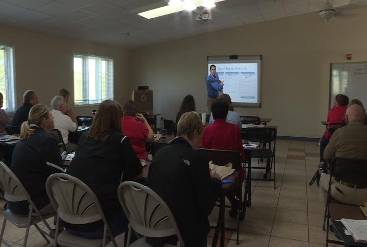 Two sessions today taught professionals how to use the app.