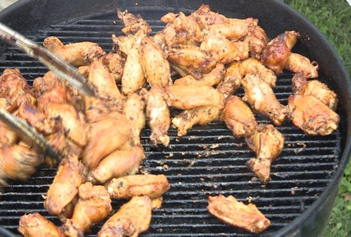 Over 300 pounds of wings were also served.