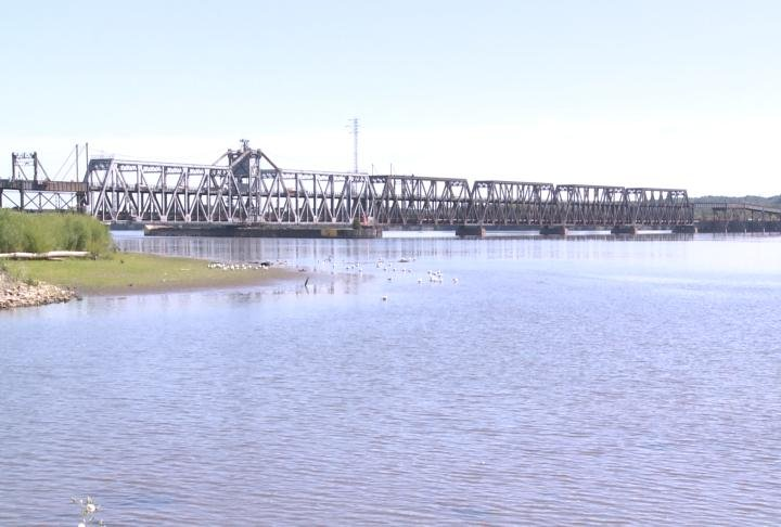 The BNSF Toll Bridge in Fort Madison.