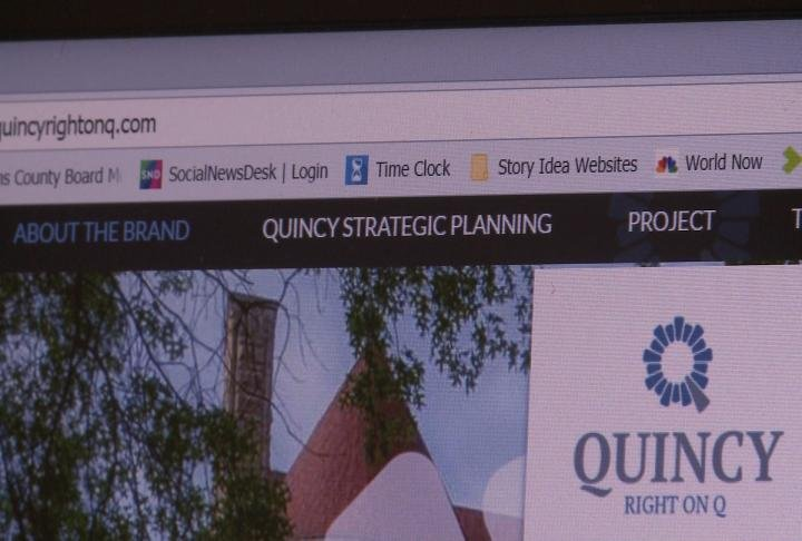 Right on Q website displays tab for Quincy Strategic Plan.