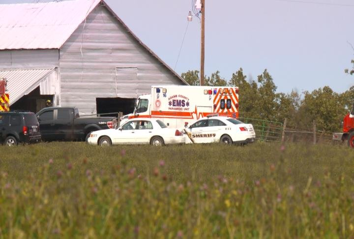 Adams County EMS and the sheriff's office were both called to the scene.