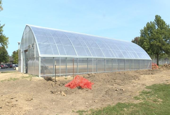 The new greenhouse at Macomb High School