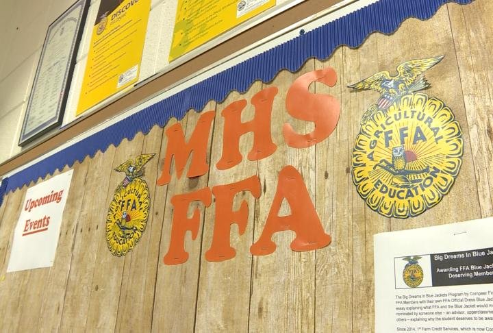 Macomb High School FFA has been able to hold classes at Macomb for the last 3 years