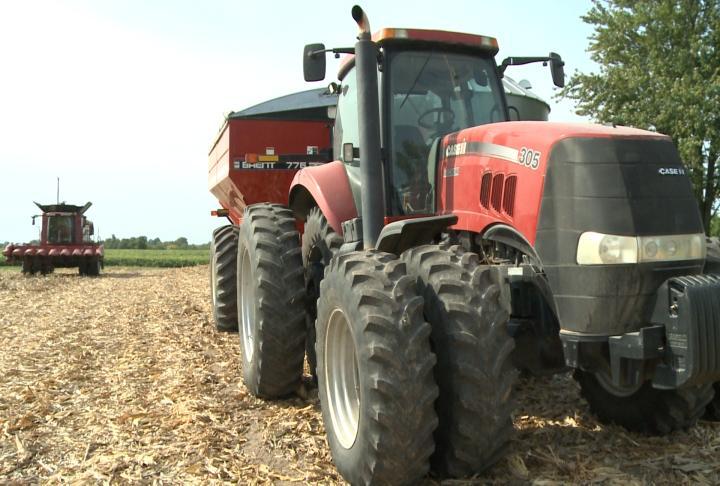 Farm equipment in the field