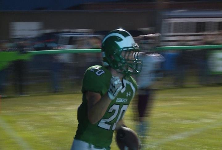 Brown County's Devin Tynan broke the program record with his 27th career rushing TD vs. Beardstown last Friday.