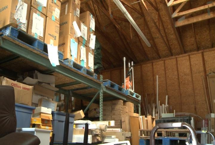 FACT's warehouse that volunteers will organize