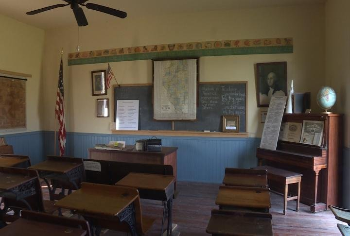 Students saw the One Room Schoolhouse