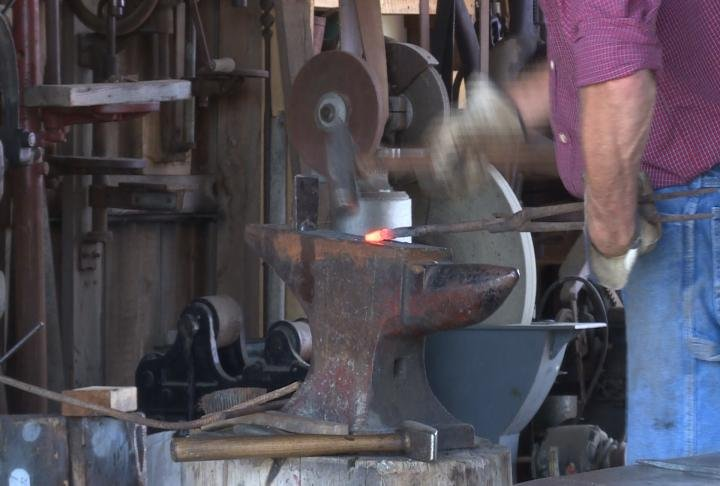 Students learned how Black Smiths made tools