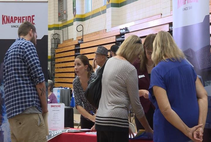 Residents meet with employers.