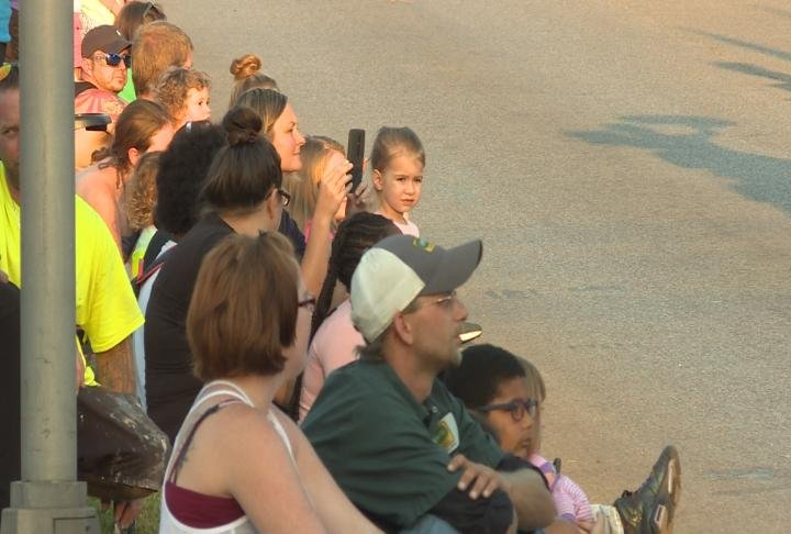 Hundreds of people attended the parade.