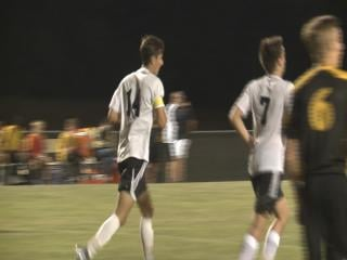 Cory Allensworth found the back of the net five times in Hannibal's win over Fulton.