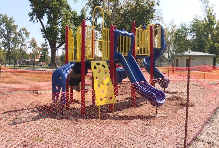 A new two to five year old play set is being added to Madison Park