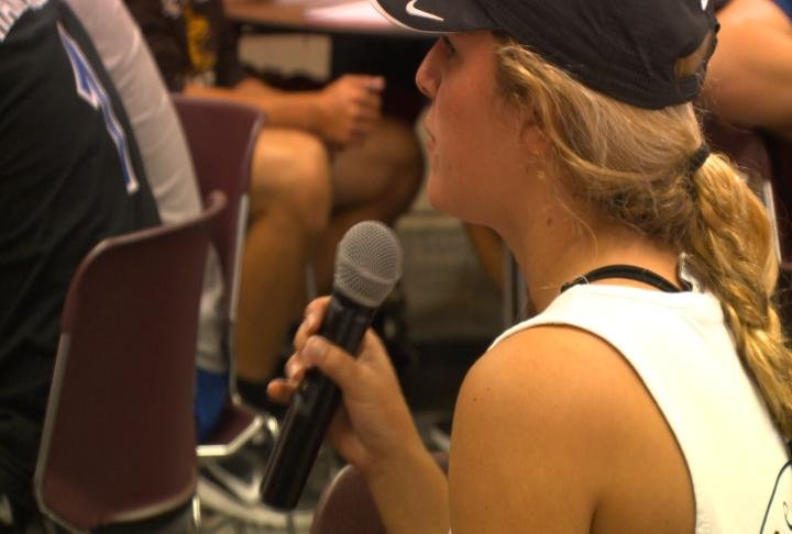 Students discusses about what type of offensive speech should be allowed on campus