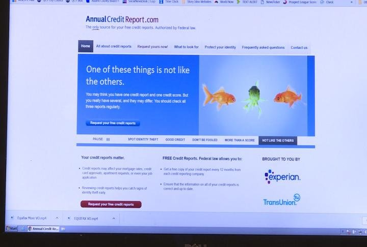 Residents can visit annualcreditreport.com, as seen here, to request a free report.