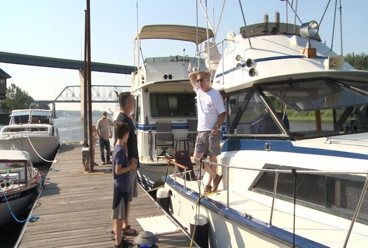 The Classic Boat Show took place on Saturday.