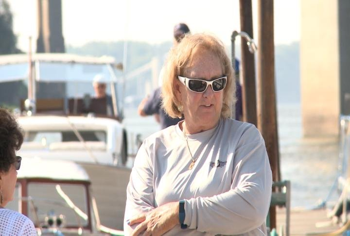 Lou Leakman and her husband traveled up the Mississippi River for the event.