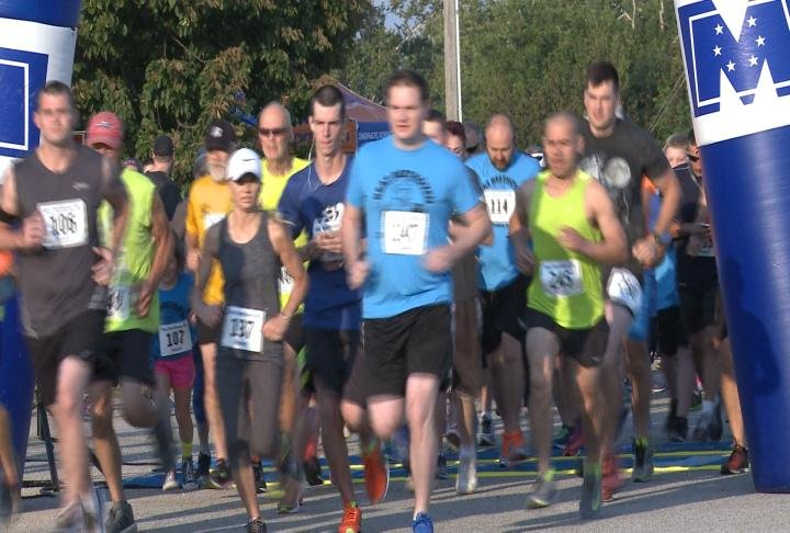 Runners took part in the 5k Saturday morning.