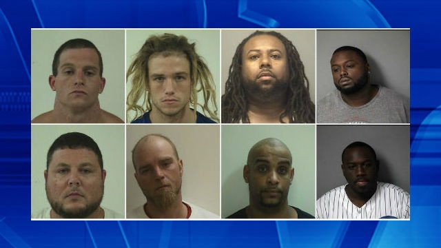 The following were indicted: Lierly, Parsons, Humphrey III, Ballard, Robinson, Stanbridge, Bergman and Varley. (Clockwise from top-left)
