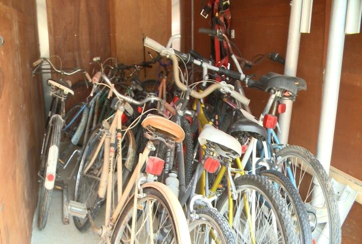 Bicycles used to get refurbished and given to children for Christmas.