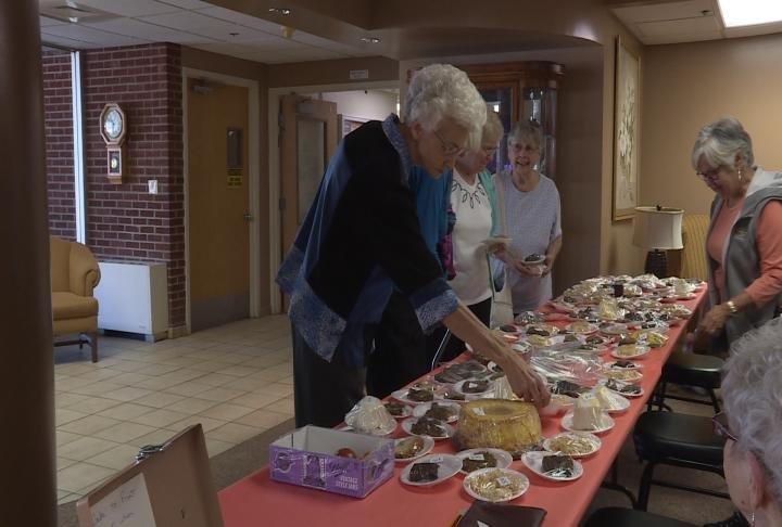 Sunset Home hosted a baked goods sale for the Honor Flight program.