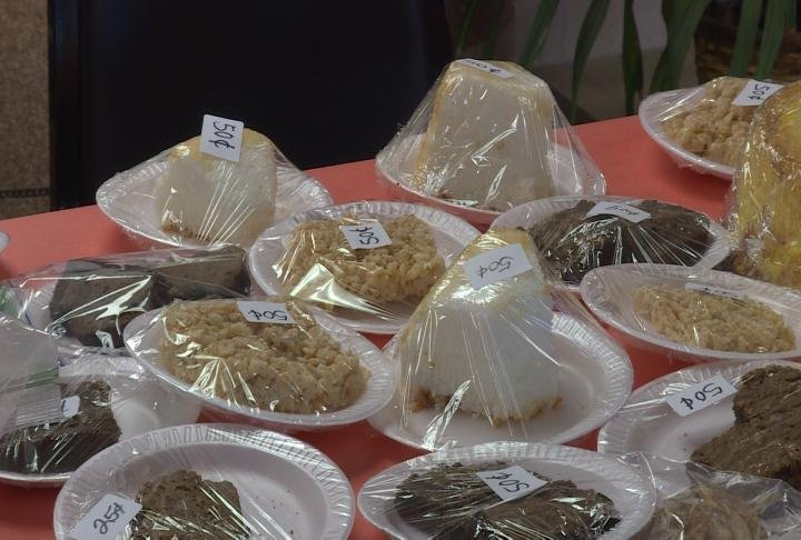 Members of Sunset Home's Auxiliary group provided the baked goods.