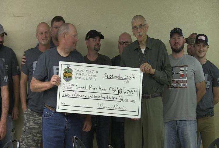 The Warsaw Lions Club made the donation.