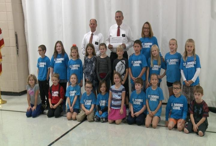 Second Grade students helped raise over $1,000 for hurricane victims.