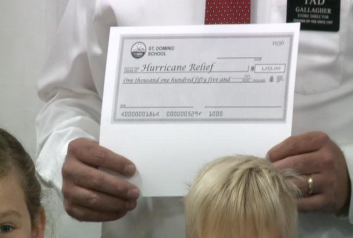 The school said Hy-Vee is going to match the amount raised.