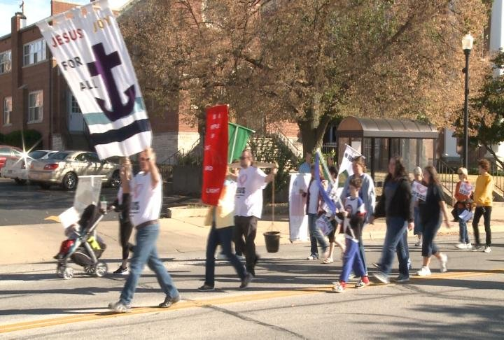 The March for Jesus took place on Saturday.