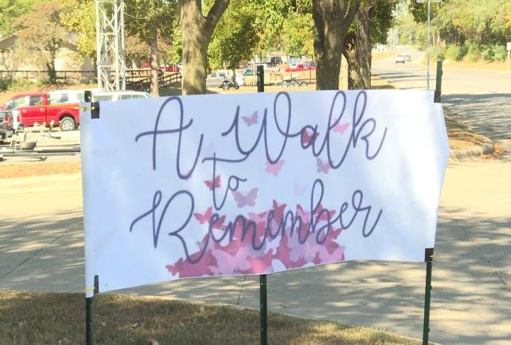 The Walk to Remember event sign