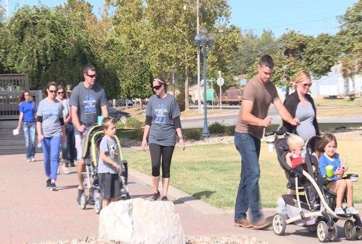 Families walk to remember their children