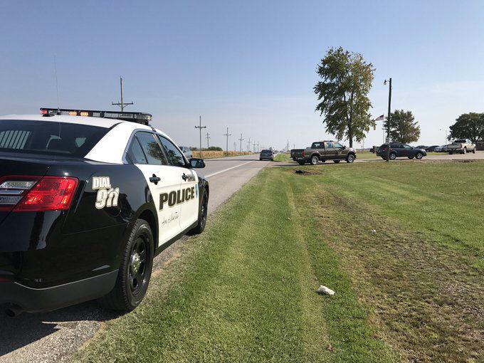 Multiple law enforcement agencies on scene.