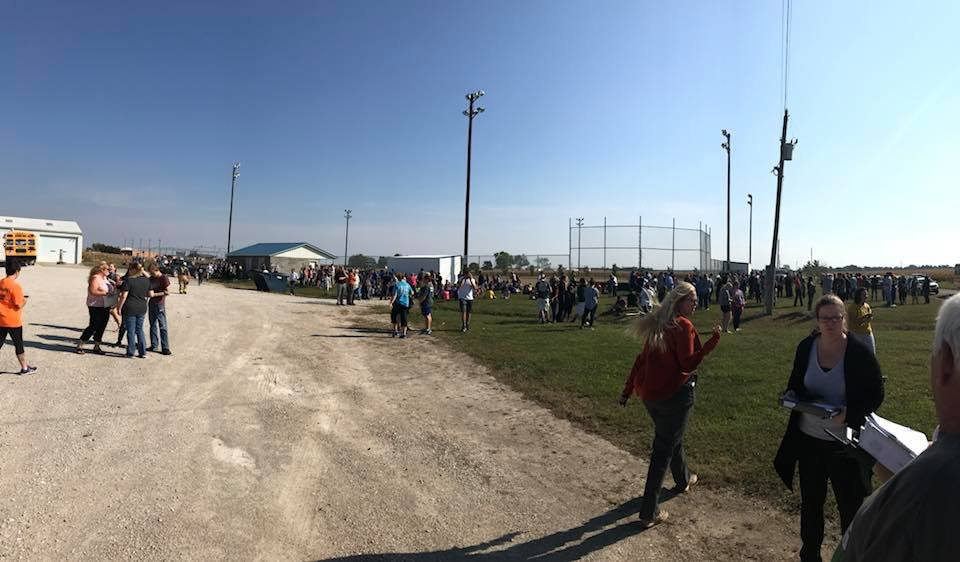 Kids gathered at the ball field. (Submitted by Shannon Miller)