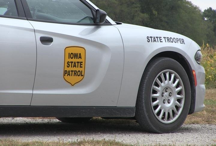 Iowa State Patrol at the scene of the incident several hours later.