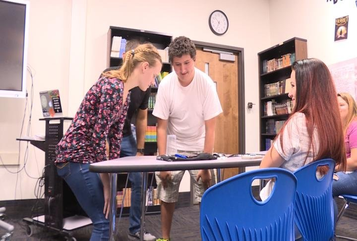 Students were able to play games to relieve stress