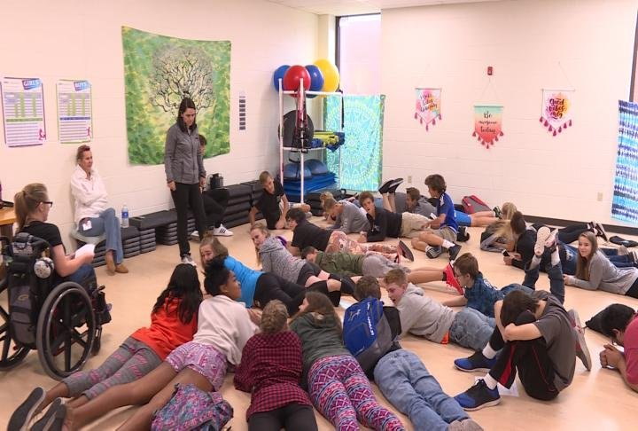 Students also learned health tips