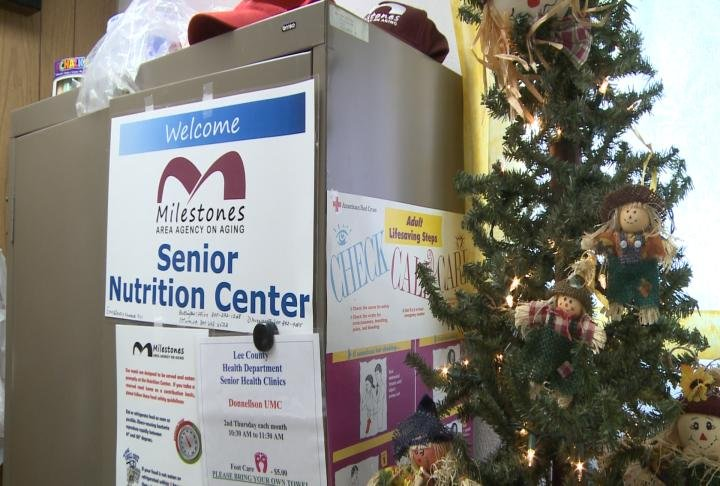 Milestones Area Agency on Aging helped provide meals at the site.